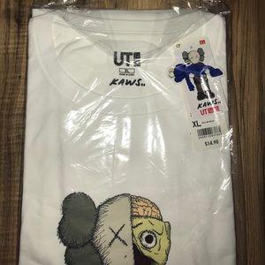Uniqlo x KAWS Shirts - White Kaws Flayed T-shirt
